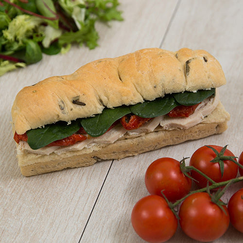 Low Calorie Chicken Focaccia Sandwich
