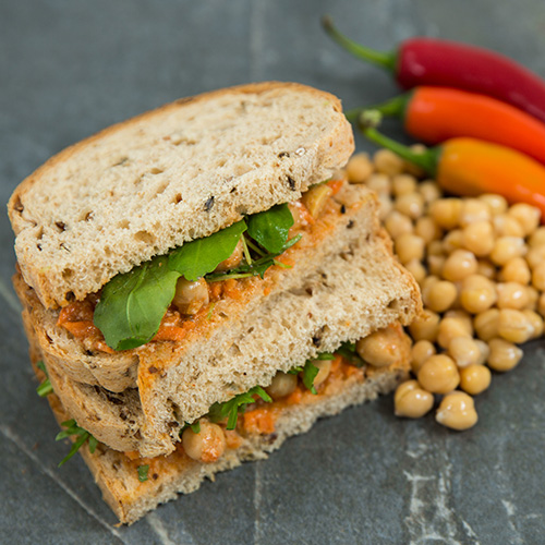 Curried Chickpea vegan sandwiches