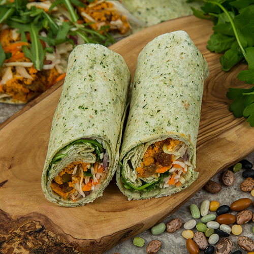 Fruity Butternut Falafel wraps by Raynor Foods