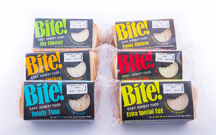 Bite sandwich range catering for hospitals