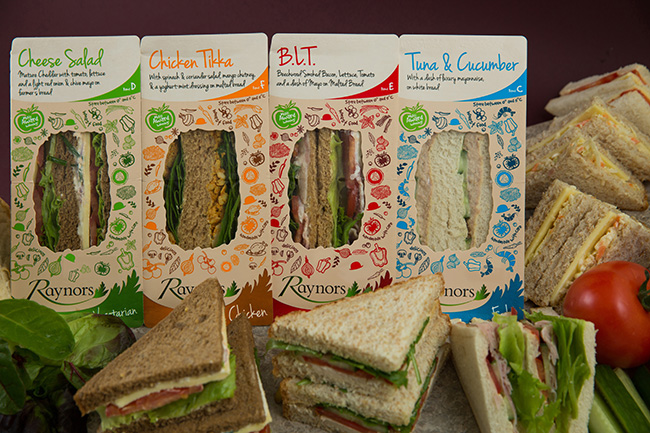 Core Range of pre packaged sandwiches