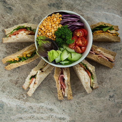 Sandwiches and ingredients