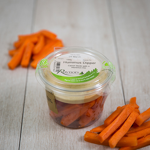 healthy Carrot & Hummus Pots available wholesale