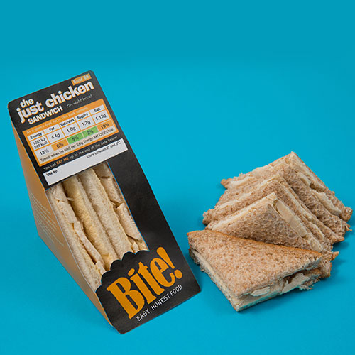 Bite range- pre packed sandwiches
