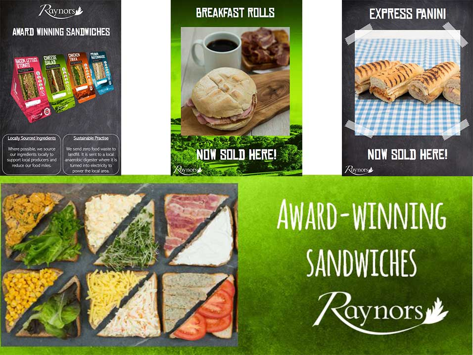 Point of sale designs Raynor Foods