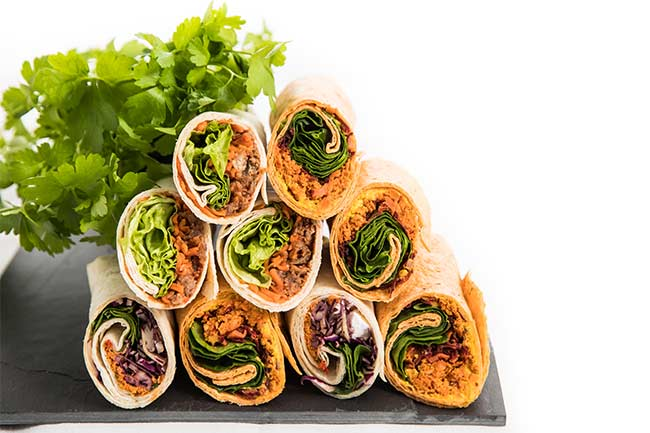 Filled wraps & rolls suppliers